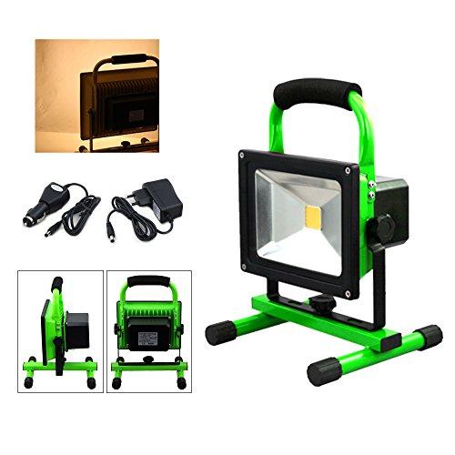 VINGO 30w super dünn LED Scheinwerfer 4000MA Beleuchtung Warmweiss Strahler 2400LM Betriebszeit 4 Stunden Handlampen Akkulampe Outdoor