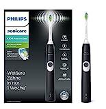 Philips Sonicare ProtectiveClean 4300 Elektrische Zahnbürste HX6800/28, mit Schalltechnologie, Andruckkontrolle, schwarz