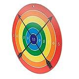 Spielzeugmanufaktur VAH - Stabile Zielscheibe für Bögen und Armbrüste mit Saugpfeilen [Pappelholz, 41 cm Durchmesser, Zum Aufhängen] Made in Germany