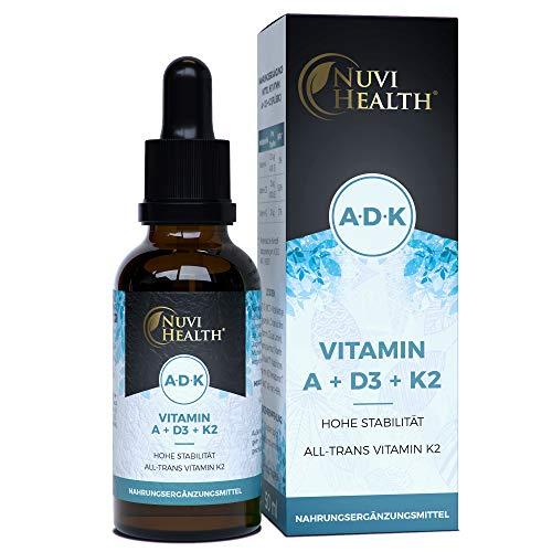 Vitamin A + D3 + K2-50 ML = 1700 Tropfen - Einführungspreis - Vitamin Komplex: VitaMK7 von Gnosis +99% All Trans + hoch bioverfügbares Vitamin D3 (1000 IE) + Vitamin A Retinol - Flüssig