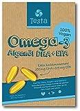Es ist Omega-3, aber besser - viel gesünder als Fischöl - pflanzenbasiertes DHA und EPA aus Algenöl - Reines und Veganes Omega-3 - Testa Omega 3 - 60 Kapseln