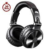OneOdio 4.1 Bluetooth Kopfhörer, Kabellos/verkabelt Over Ear Headset Dual 50mm Treiber, 30 Stunden Spielzeit, DJ Kopfhörer (Kabellos/verkabelt, Schwarz)
