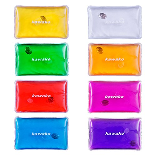 Taschenwärmer 8er Set Multicolor - Rechteck Matte - Handwärmer Heizpad Wärmepad Firebag