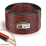 MANAX Lautsprecherkabel weiß 2x1,5mm² 30m Ring, rot/schwarz