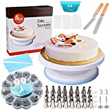Weiß Cake Decorating Supplies -Tortenplatte drehbar Tortenständer Kuchen Drehteller für Backen Gebäck Cake Decorating Turntable mit 2 Stück Winkelpalette Set