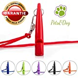 Pets&Dog Hundepfeife | Trainingspfeife | Hundeerziehung | Welpen-Erziehung | Pfeife für Hunde | Hundeausbildung | Umhänge Pfeife | Agility Hundetraining | (Red)