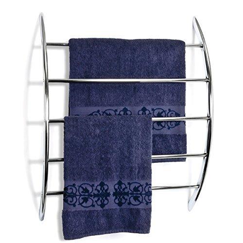 bremermann Handtuchhalter zur Wandmontage mit 5 Stangen aus Metall, verchromt