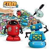 REMOKING Roboter Spielzeug für Kinder, Induktiver Roboter Elektronisches Spielzeug, Track Puzzles Spiel, STEM Pädagogisches Spielzeug Set, Geschenk für Jungen und Mädchen ab 3