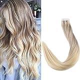 Full Shine 22 Zoll 20 Stuck 50g Per Package Haarfarbe #18 Fading to #22 and #60 Tape in Haarverlangerung Balayage Hair Extensions Fur Voller Kopf