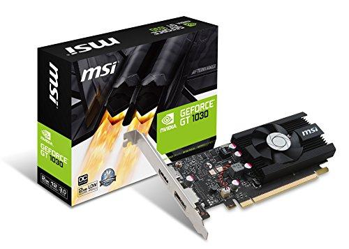 MSI GeForce GT 1030 2G LP OC 2GB Nvidia GDDR5 1x HDMI, 1x DP, 2 Slot Low Proflie, Afterburner OC, Grafikkarte
