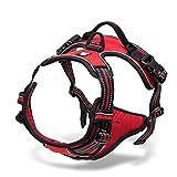 Verstellbar nicht Pull Hundegeschirr Pet Weste mit 3 M Reflektierende Weich gepolsterten Robuster Griff für Training oder Walking