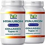 BioCell 120 Hyaluronsäure Kollagen-II Kapseln, hochdosiert 1000mg Collagen / Tag Haut Haare Gelenke von NP-Vital (2x60)