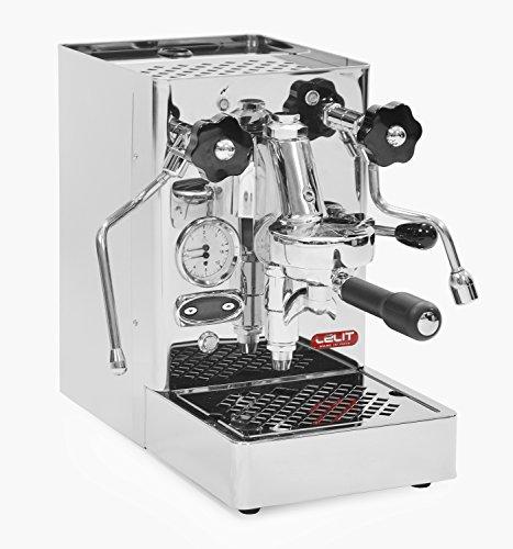 Lelit Mara PL62T Professionelle Kaffeemaschine mit E61-Gruppe für Espresso-Bezug, Cappuccino-Edelstahl-Gehäuse - Temperaturkontrolle für Kaffee durch PID, rostfrei, Kupfer, 2.5 liters, silber