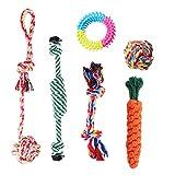 Habier Hundespielzeug, 6 Stück Kauspielzeug Hund Spielzeug Set Baumwollknoten Spielset Seil Interaktives Spielzeug für Kleine und Mittlere Hunde