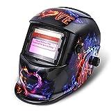 Solar Automatik Schweißhelm NASUM Welding Helmet Schweißmaske für alle gängigen Schweißtechniken Schweißschild mit Kopfband Automatische Verdunkelung