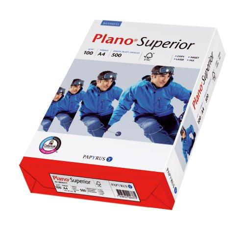 Papyrus 88085901 Drucker- und Kopierpapier Premium: PlanoSuperior 100 g/m², A4 500 Blatt, blickdicht, matt, hochweiß