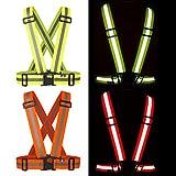 BTR EASY FIT GELB reflektierende Weste für höchste Sicherheit / Warnweste / Reflektorweste zum Joggen, Radfahren oder für Aktivitäten bei Dunkelheit und in der Nacht. Seien Sie SICHTBAR! EINHEITSGRÖSSE