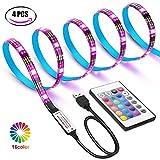 WEKNOWU USB LED TV Hintergrundbeleuchtung Kit mit Fernbedienung, LED Band Lichter 2m für 40-60 Zoll TV – 16 Farben SMD 5050 LEDs Ambiente Beleuchtung für HDTV (IR Fernbedienung)
