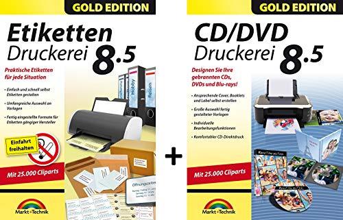 Etiketten Druckerei 8.5 und CD/DVD Druckerei 8.5 Gold Edition für Windows 10, 8.1, 7