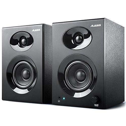 Alesis Elevate 3 mkII, 2 Stuck aktive Studio Monitore Lautsprecher mit 3 zoll Woofer für Multimedia Studio, PC, Mac