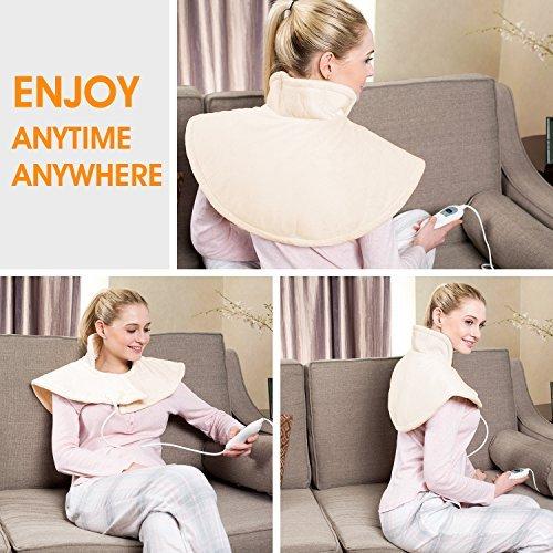 Hangsun Heizkissen Elektrisch für Schulter/Nacken(50 x 35 cm),TP 530 Elektrisches Wärmekissen 3 Temperaturstufen,Waschbar
