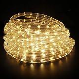 LED Lichterschlauch Lichtschlauch Lichterkette Licht Leiste 36LEDs/M Schlauch für Innen und Außen IP65 14M Warmweiß