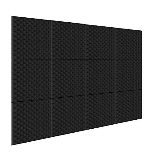 Neewer 12 Pack Akustikplatten Studio Schaum Schallabsorption, schallgedämmter Schaum, 1' X 12' X 12' Eierkarton Fliesen für Zuhause und Studio Tonschaumkeil