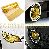Scheinwerferfolie GELB 200cm x 30cm NEW Folie Gelbe Nebler Auto Scheinwerfer yellow vinyl google