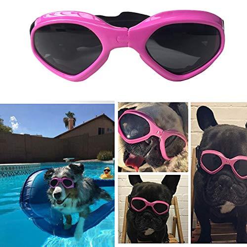 SHUIBIAN Hundebrille Fashion Haustier Hund Sonnenbrille Eye Wear Hund Wasserdicht Schutz UV Sonnenbrille Schutzbrille für kleine Mittelhunde(pink)