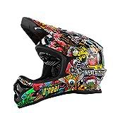 O 'Neal Backflip RL2Evo Crank Fahrrad Helm, Kinder, Kinder, Backflip Rl2 Evo Crank, negro (black / multi), L (51 - 52 cm)