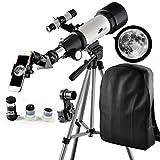 Teleskop 70mm Aperture Travelscope 400mm AZ Mount - Refraktor Teleskop für Einsteiger, Amateur-Astronomen und Kinder für Beobachtung von Himmel und Landschaft