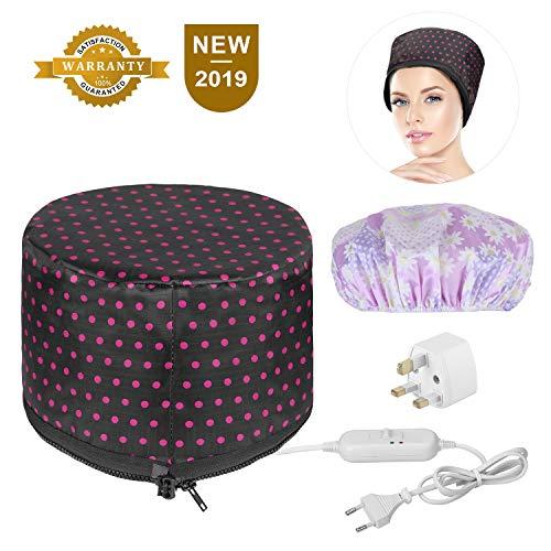 Haardampfer, Heatigo High-End-Haarthermie-Mütze, für die Wärmebehandlung zu Hause Beauty Steamer Spa Cap Pflegender Haarpflegemütze Perfekt für die Körperpflege zu Hause, mit Konvertern, Hutzubehör