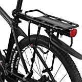 WANDERVOGEL Fahrradgepäckträger Mountainbike Gepäckträger Mit Schnellspanner mit Schutzbleche und Reflektor Max. Belastbarkeit 75kg Aluminium