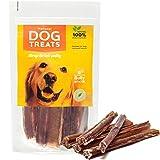 Ochsenziemer 15 cm für Hunde, 100% Natürlich Getrocknet Rinderkopfhaut Kauartikel, 10 Stück
