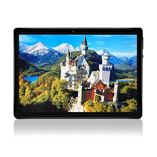 10 Zoll Android 7.0 Tablet entsperrt Pad mit Dual SIM Kartensteckplatz TAOERA 10,1 'IPS Bildschirm 2GB RAM 32GB ROM 3G Phablet Integriertes Bluetooth WiFi GPS Tablets (Metallisches Schwarz)