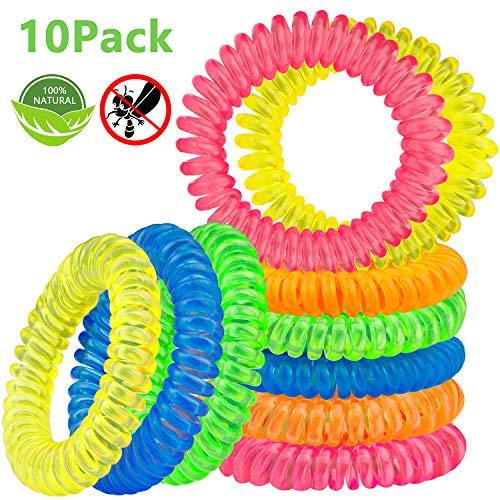 Mückenschutz Armband [10 Stück], Beikell Insektenschutz-Armbänder, Anti-Mückenschutz - DEET freier für Kinder, Erwachsene, Camping, Reise