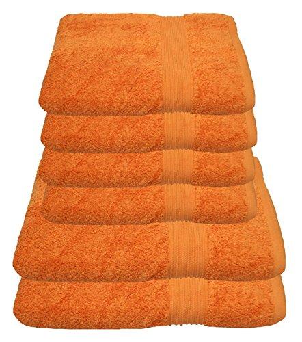 Julie Julsen Handtuch Set 2X Duschtuch 4X Handtuch Orange/in 23 Farben erhältlich weich und saugstark