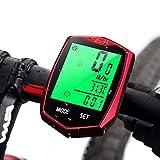Aodoor Radcomputer, Fahrradcomputer Drahtloser Wasserdichter LCD-Hintergrundbeleuchtung Fahrradtacho Tachometer für Radsport (Upgrade Version)