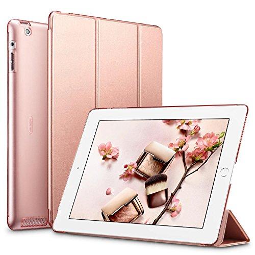 ESR Hülle kompatibel mit iPad 4 / iPad 3 / iPad 2 (9,7 Zoll), Ultra Dünnes Smart Case Cover mit Auto Schlaf-/Aufwachfunktion - Kratzfeste Schutzhülle mit PC Hardcase Backcover - Roségold