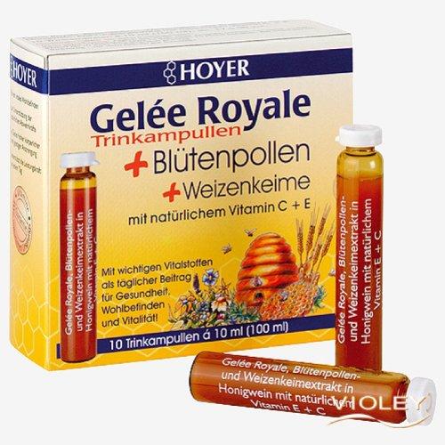 Hoyer Gelee Royale + Blütenpollen Kur 10x10ml