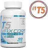 T5 Fettverbrenner Maxcore | Die besten extremwirksamen Diätpillen | T5s Gewichtsreduzierung Diätpillen (90 Vegetarische Kapseln)