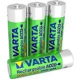 Varta Rechargeable Accu Ready To Use vorgeladen AA Mignon NiMh Akku (4er Pack, 2600 mAh, wiederaufladbar ohne Memory-Effekt - sofort einsatzbereit)