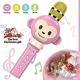 Karaoke Mikrophon, Karaoke Anlage kinder ,Bluetooth 4.2 Karaoke-Mikrofon Tragbare Handheld Karaoke Mic Home Party Weihnachten Geburtstag Lautsprecher Maschine für iPhone / Android