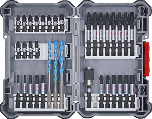 Bosch Professional 2607017463 Schlagschrauber Zubehör Pick&Click Set 35tlg. (im Koffer)