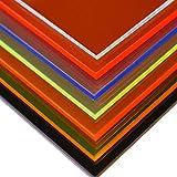 in-outdoorshop Plexiglas Zuschnitt Acrylglas Platte in unterschiedlichen Farben (250mm x 250mm x 3mm, blau fluoreszierend)