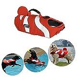 HomeYoo Schwimmhilfe für Hunde, Hundeschwimmweste, Poppypet Doggy Aqua-Top Schwimmweste Haustier Hunde-Schwimmweste mit überlegenem Auftrieb und Rettungsgriff (M, Orange)