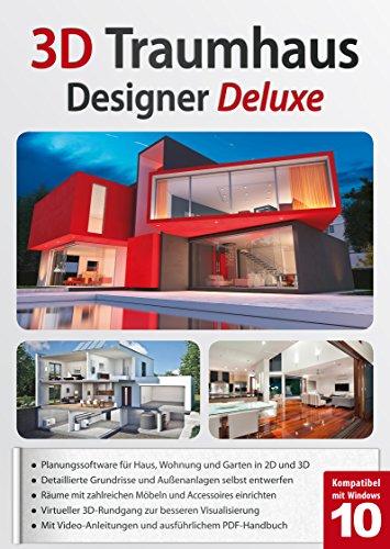 3D Traumhaus Designer Deluxe - ideal für die Architektur, Haus, Wohnplaner, Garten - für Windows 10-8-7