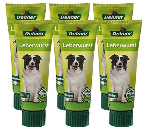 Dehner Hundesnack, Leberwurst in Lebensmittelqualität, 6 x 75 g (450 g)