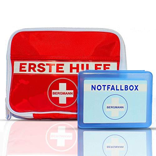 2-in-1 Erste Hilfe Set (100-Teile) Pflaster Tasche für den Notfall - Mit Bonus Verbands-Kasten für Wandern, Reise, Zuhause, Kinder & Baby