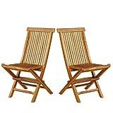2Stück Stühle von Garten Teak Holz Klappstühle